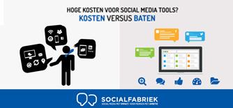 Hoge kosten voor social media tools?