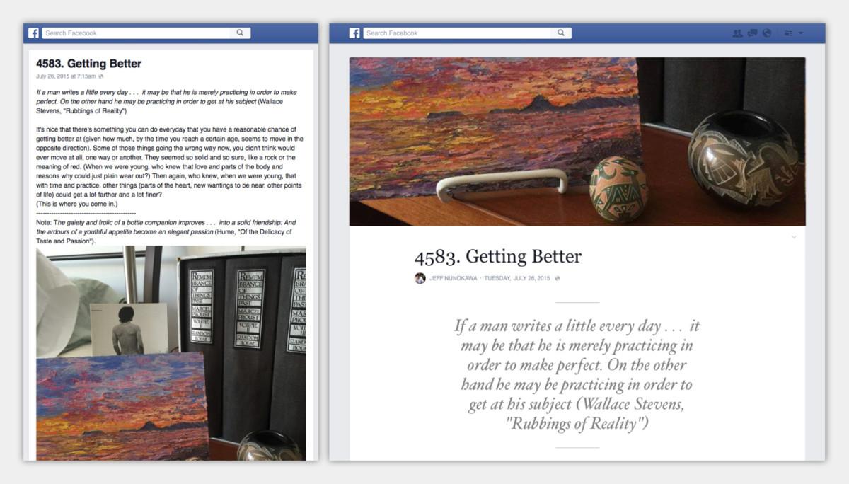 Facebook blog