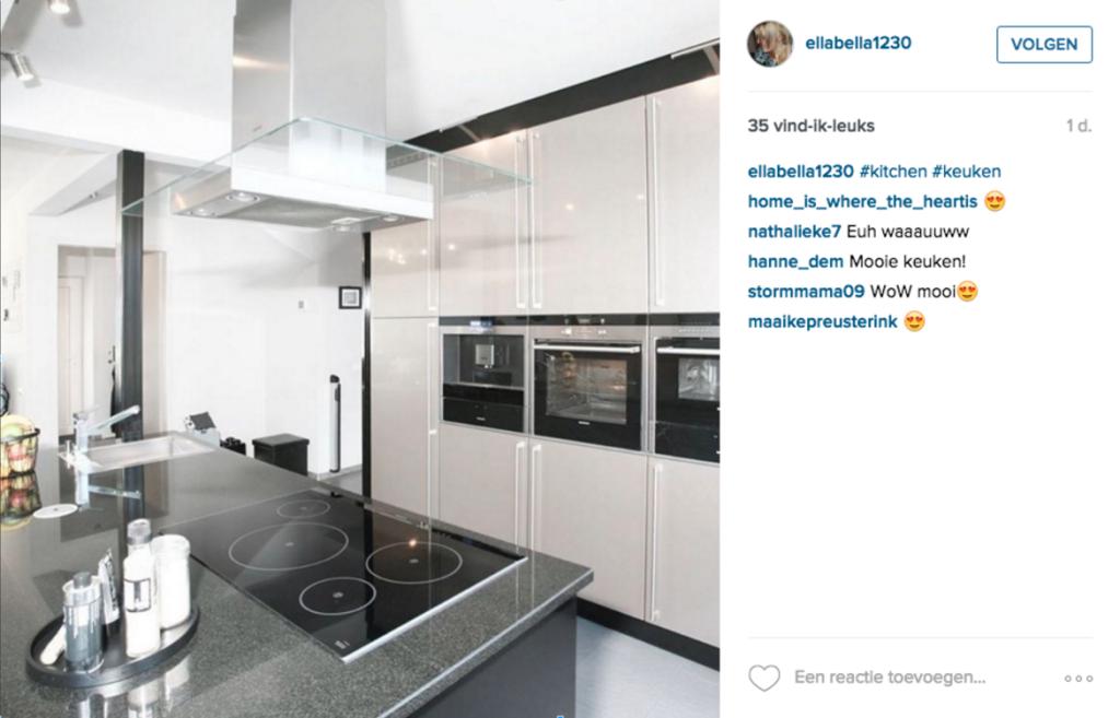 Instagram keuken voorbeeld Socialfabriek