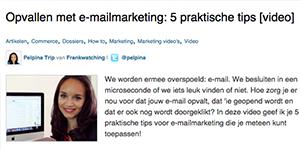 Opvallen met e-mailmarketing