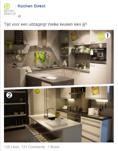 social content creatie Facebook post Kuchen Direct