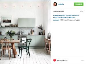 Instagram keuken voorbeeld Socialfabriek 2